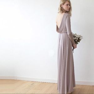 Blush Boutique Taupe Formal Maxi Dress One-size A2